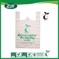 manufacturer logo printed biodegradable plastic vest carrier bag
