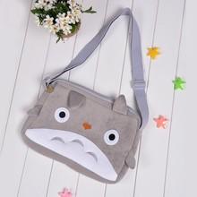 Cartoon Cat Bag Soft Short Plush Purse Cute Gray stylish woman shoulder Bag SV005711