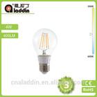 A60 4w E27 filament led bulb with round 180 angle for sale