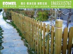 China fir / cedar sawn timber artistic ornamental wooden fence posts / pickets