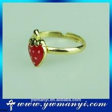 Fashion elegant wholesale diamond zinc alloy fashion butterfly ring gold or white plating