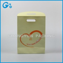 Customized Eco-friendly Kraft Paper Bag for Food with Logo Printing Wholesale