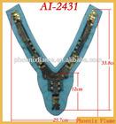 Fashion antique brass foils beaded embellishement AI-2431