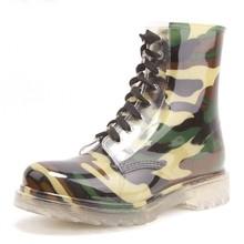 2015 New Fashion low cut rain boots Environmental sex mature women rose pink fashion camo rain Boots