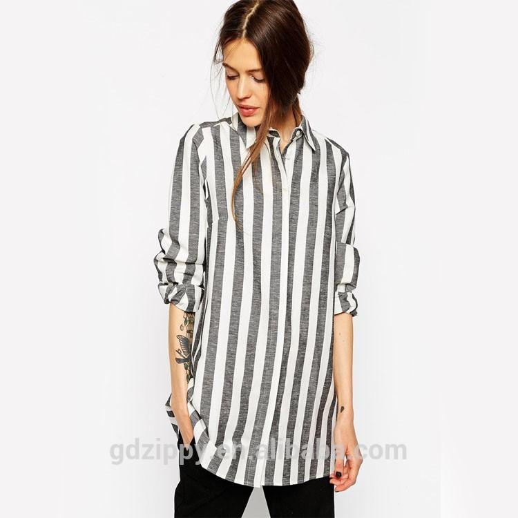 Блузка В Широкую Черно Белую Полоску Купить