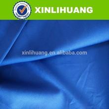 2015 new arrival azul royal boa colorfastness CVC tecido de cetim para workwear