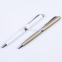 Jiangxin pen factory dicyclic leather metal pen,lacquered brass pen,fashion design twist metal pen