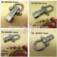 Dgjinyu D & Bow shape Stainless steel adjustable shackle,adjustable buckle Stainless steel for paracord bracelet
