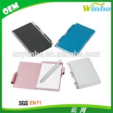 Winho metal aluminum business card holder with pen