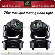 Hot sell spot lights LED Mini 75w spot moving head light