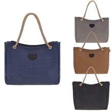 New Fashion Retro Women's Girl Eco-friendly Canvas Handbag Shoulder Bag branded handbag Made in China SV014017