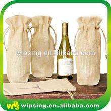 Custom organic drawstring burlap wine bags wholesale