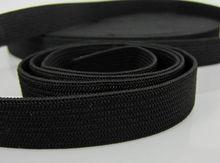 5/8 inch Wide 10 yards Black Soft Knit Braided Elastic band