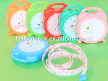 promotional tape measure alarm clock design 100cm/150cm measuring tape
