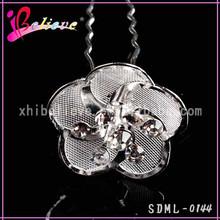 Free sample available low price flower rhinestone u shape hair forks (SDML-0144)