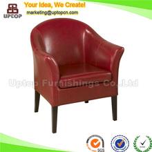 (SP-HC525) red commercial restaurant antique sofa