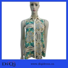 OEM Professional Superior Quality Apparel Flower Printing Design Super Comfortable Type Women Blouses