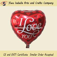 Red heart Valentine's day balloon,helium balloon,love balloon
