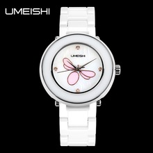 Charming lady white ceramic popular designer watches girls