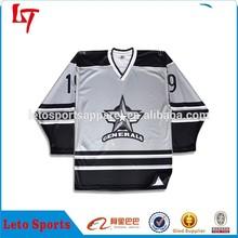Men's custom embroidery logo ice hockey jersey/Winter Olympic Hockey black blank Apparel/3D printing ice hockey uniform