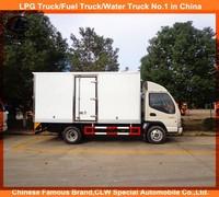 3ton Jac small freezer truck thermo king meat transportation cooling van truck jac mini refrigerated trucks for sale
