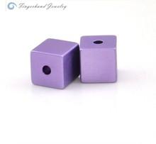 2015 YIWU Stock Hot Sale Wholesale Anodized Aluminum Cube Colorful Aluminum Bead