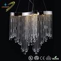 Gz10002-10p cascada brillo italiano cristal de lujo LED moderna araña cristal