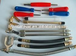 Tire valve extensions/valve extenders/tire repair tool