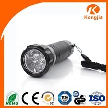 OEM Flashlight 12 Led Round Head Aluminum UV Currency Detector Keychain with Lanyard