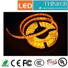 SMD3528 120leds/m IP65 LED strip yellow color side emitting led strip light