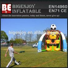 Lion shape inflatable soccer sport game goal set