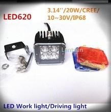Alibaba China factory 3'' 20w led work light 10-30V Spot/Flood/combo beam for truck, auto, 4x4, excavatork, boat,ATVs UTV