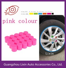 Pink colour steering wheel screw cover/wheel screw protection cover