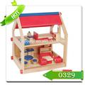 los niños de juguetes de madera en miniatura casa de muñecas muebles