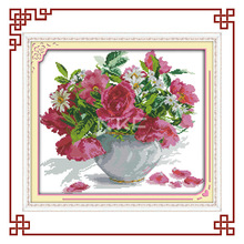 Nkf Roses e margaridas cross stitch kits