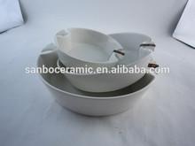 SGS CE hot sale factory white porcelain candy shape microwave safe bakeware