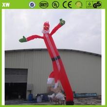 advertising one legs inflatable air dancer santa claus dancer fire