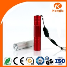 Aluminum 1 LED Flashlight Light Projector Keychain Multi Image with AA Dry Battery