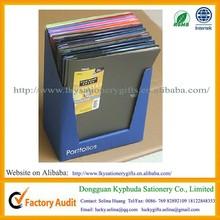 Multi-colors A4 3 prongs 2 pocket portfolios
