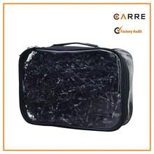 transparent PVC vinyl cosmetic travel clear makeup pouch