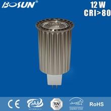 hot 2015 mr16 gu5.3 led lamp 12v 12w CE RoHS