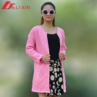Korean knitted ladies buttonless cardigan sweater