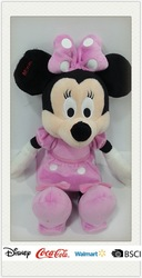 "disney"" audited factory Mickey Minni Mouse plush toys"