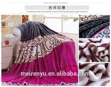 cheap velvet blanket comfortable fabric and vivd printed pattern blanket