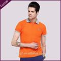 Hombre de color sólido simple moda camisa de polo