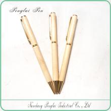 classical slim thin cross wooden drum stick pen