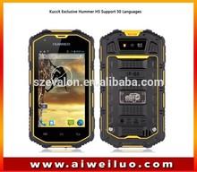 Original Hummer H6 IP68 Waterproof Smart phone MTK6582 Quad Core Android4.2 5inch 3G GPS Walkie Talkie H5+ dustproof cell phone