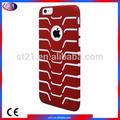 Nouveaux produits de la chine de téléphone mobile pour couvrir apple iphone 6 plus de poisson- os hybride couverture rouge bleu violet blanc noir rose