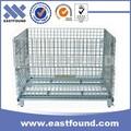 de metal de acero industrial bin apilables de malla de alambre de la jaula de almacenamiento