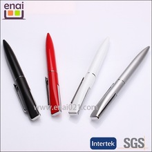 small MOQ short shiny plastic metal cheap ballpoint pen